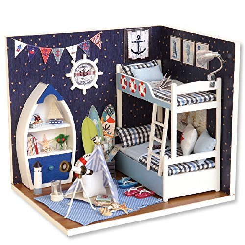 Flever Dollhouse Miniature DIY House Kit Creative Room With Furniture and Cover for Romantic Artwork Gift(Face The - To Sunglasses How Your Face For The Choose Right