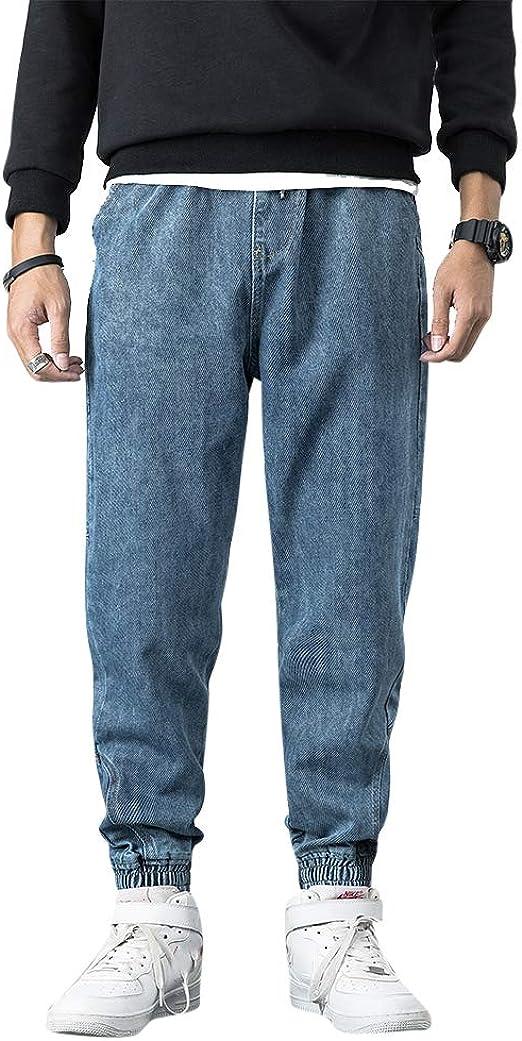 [Mirroryou(ミラーユー)]デニムパンツ メンズ 春夏秋冬 綿 調整紐 裾絞り