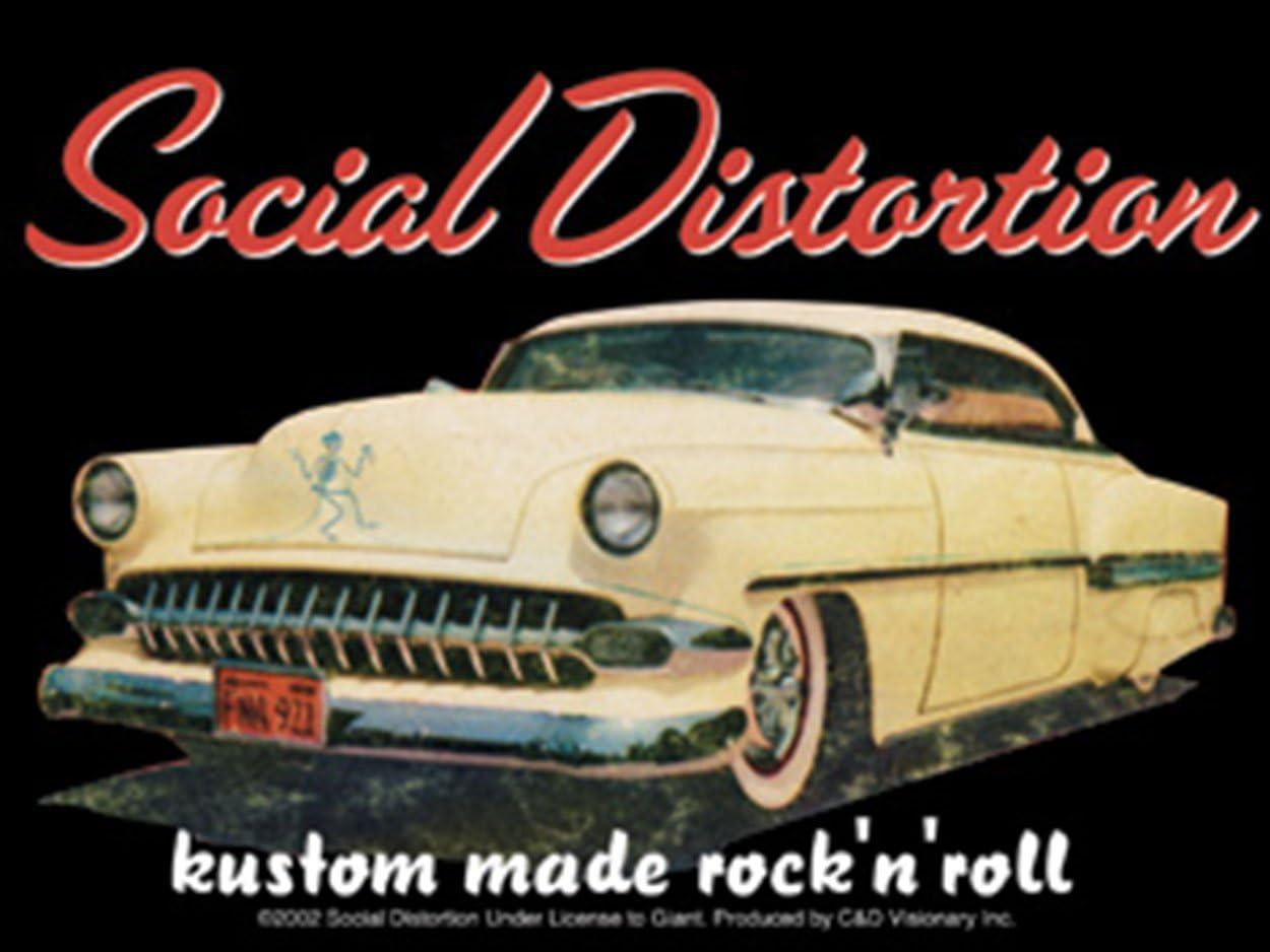 Officially Licensed Original Artwork SOCIAL DISTORTION Car Long Lasting Sticker Aufkleber DECAL 3.8 x 5