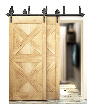 Amazon.com DIYHD 5.5FT Big Wheel Sliding Barn Wood Track Hardware Interior Closet Kitchen Door Easy Mount One Piece Bypass Home Improvement  sc 1 st  Amazon.com & Amazon.com: DIYHD 5.5FT Big Wheel Sliding Barn Wood Track Hardware ...