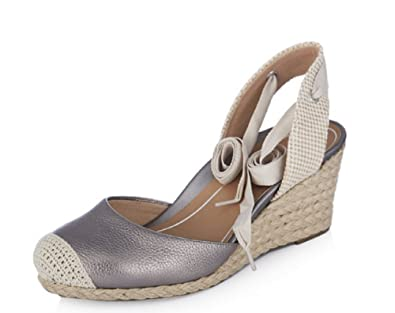 cb528b79f25 Vionic Orthotic Aruba Maris Espadrille Wedge - Pewter - UK 8 - EU 42 ...