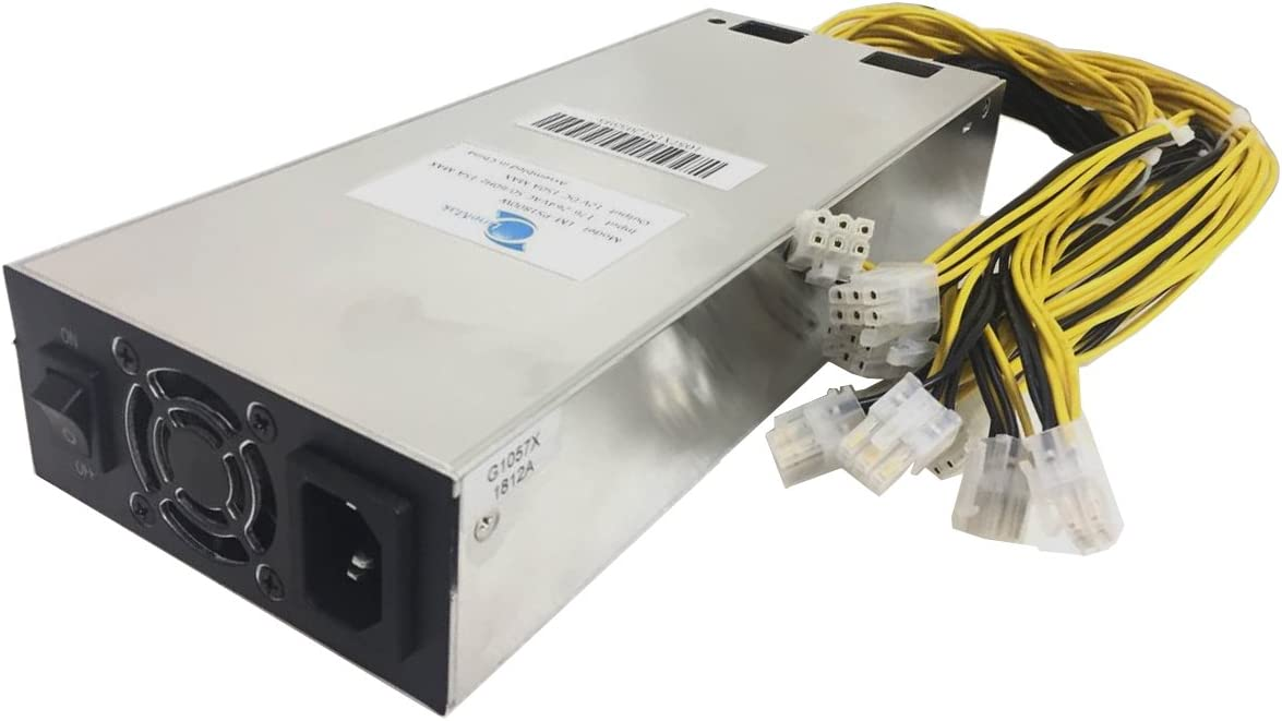 Number1Miners Bitmain PSU Requires 176v-264v Power 1800W 15amp Max Power Supply for S9i S9j S9 T9 A3 D3 X3 E2 E3 Z9 Z9 T15 S11 DR5 Innosilicon. ASIC and GPU Miners. Does NOT Work with 110V