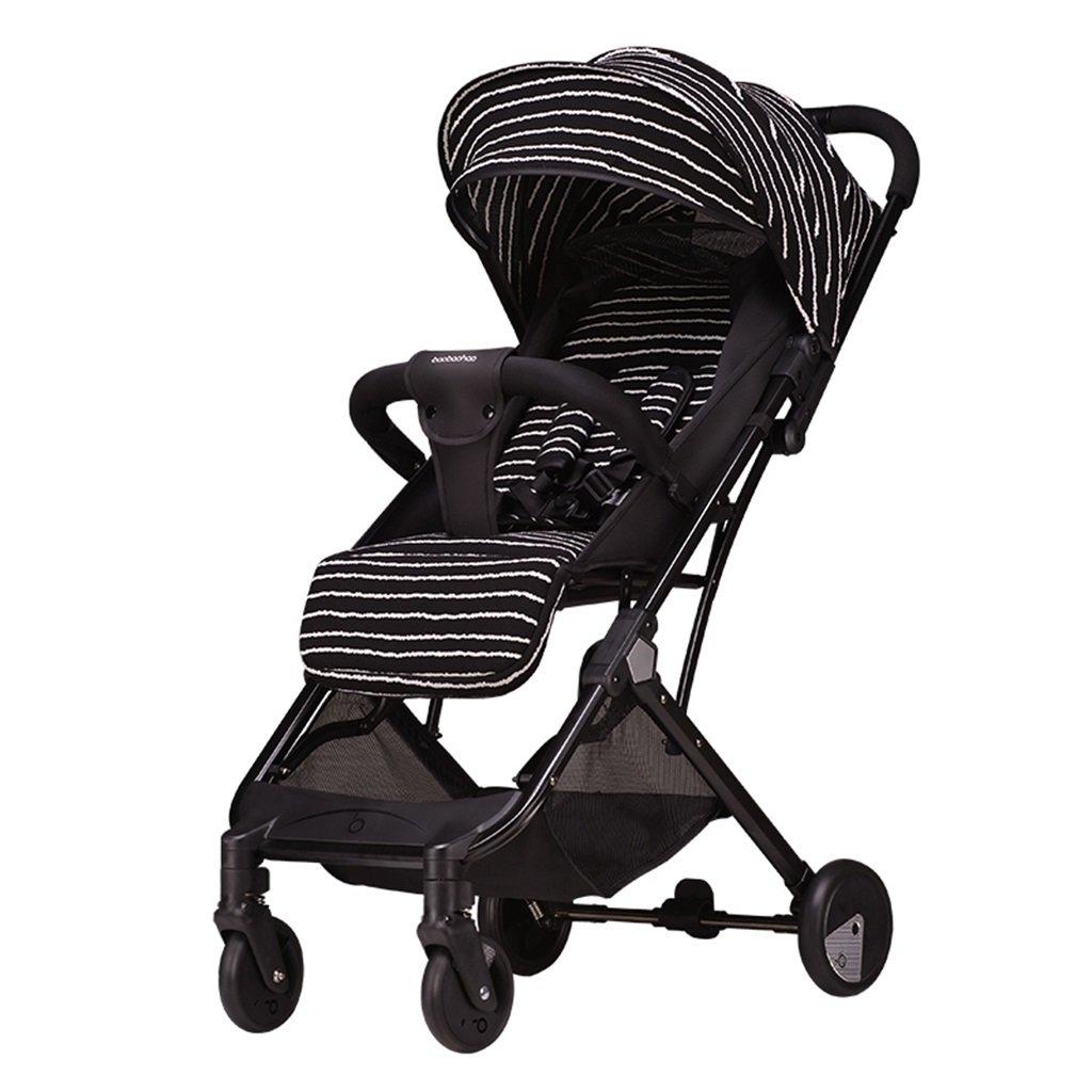 HAIZHEN マウンテンバイク ベビーカートは座ることができる/超軽量ポータブル折り畳み式可変トロリーケースラバーリフレクター4輪ショックアブソーバ赤ちゃんキャリッジショッピングバスケットで5点のシートベルトトロリー42 * 44 * 100cm 新生児 B07DL9BKMS 4 4