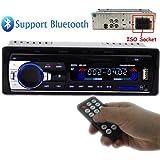 PolarLander Autoradio Audio USB / SD / MP3-Player Receiver Bluetooth-Freisprecheinrichtung mit Fernbedienung schwarz 1 Din