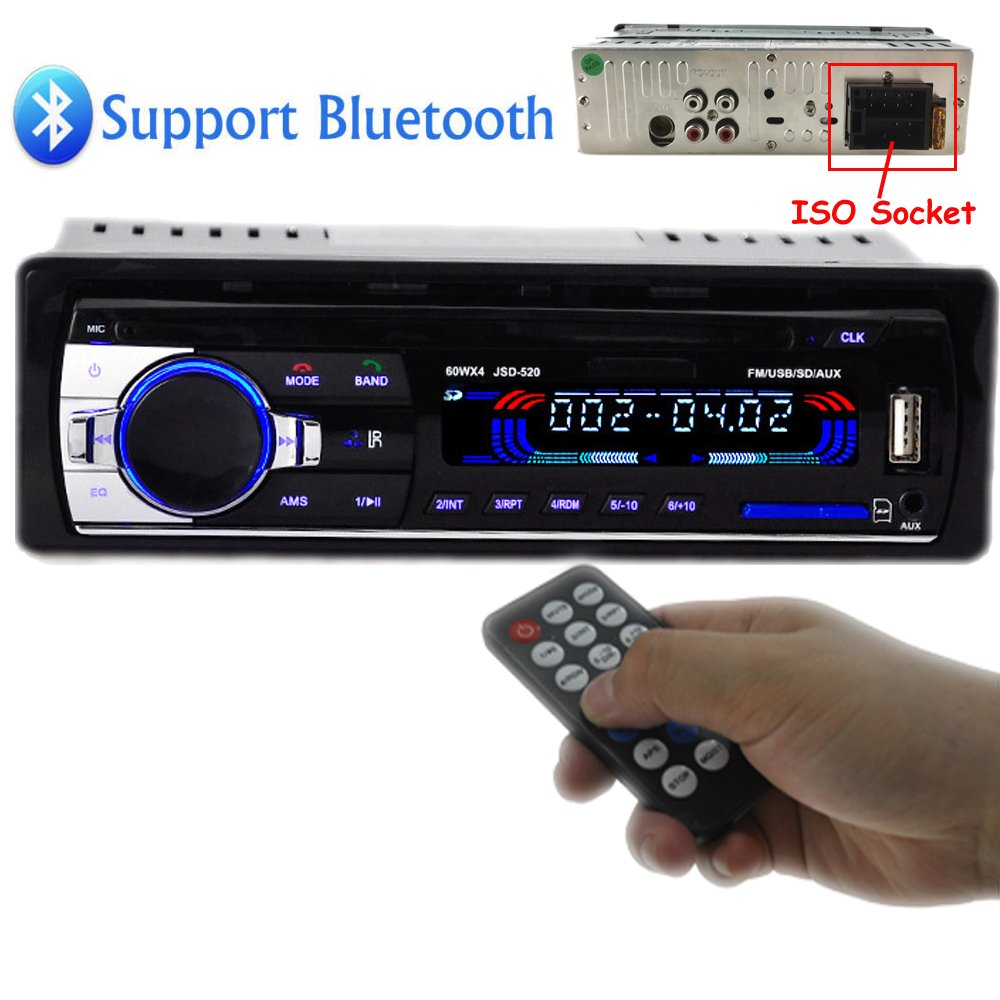 Car cd players with bluetooth amazon polarlander car radio audio usbsdmp3 player receiver bluetooth hands free with publicscrutiny Images