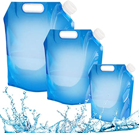 5L Outdoor Foldable Collapsible Drinking Bag Water Car Water Carrier Container