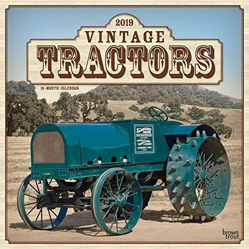 Vintage Tractors 2019 12 x 12 Inch Monthly Square Wall Calendar, Farm Rural Country (Multilingual Edition)