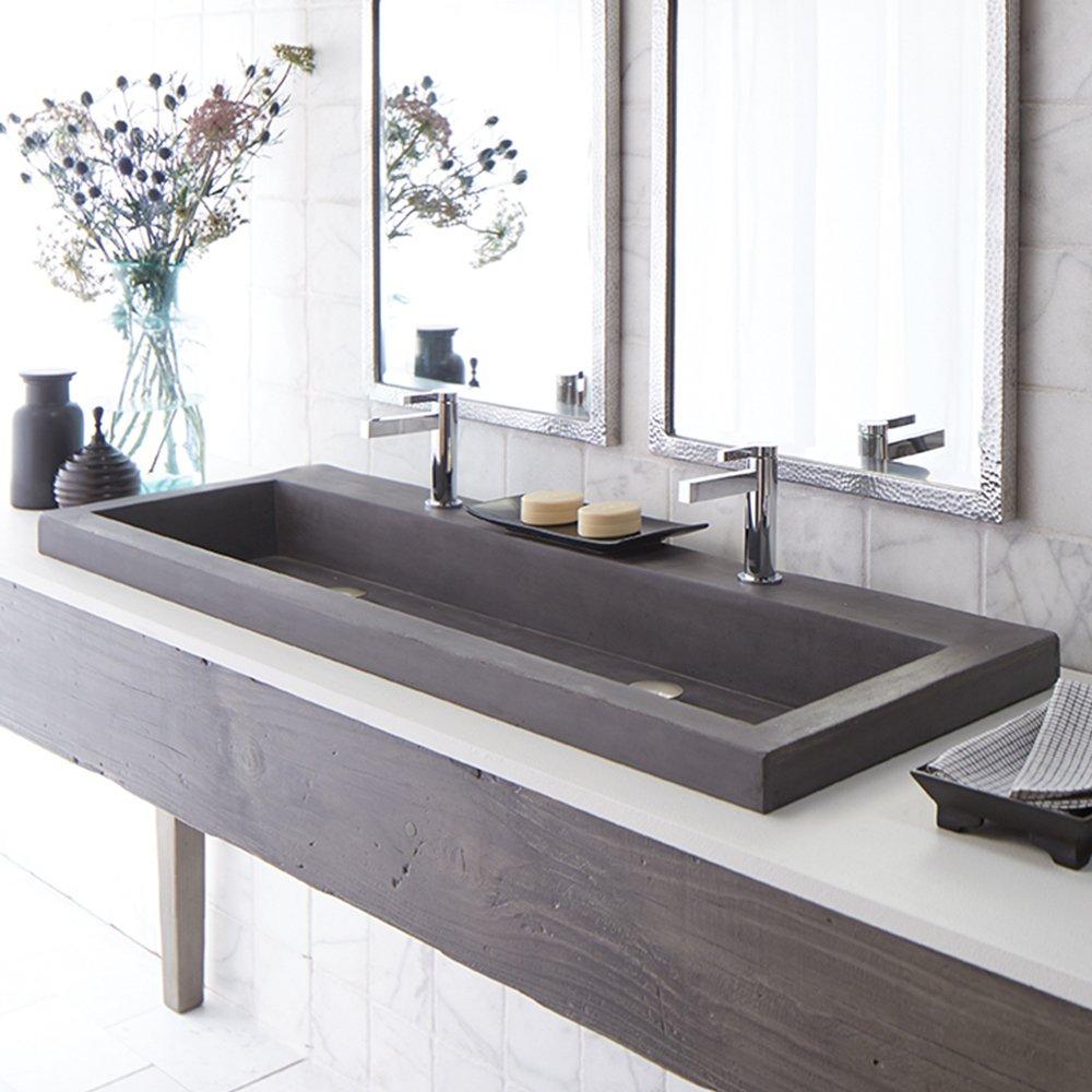 Bathroom Sinks Vanity Sink Tops 36 X 19 Native Trails Nsl4819 S Native Stone Trough Bathroom Sink Slate Web Art Co Il
