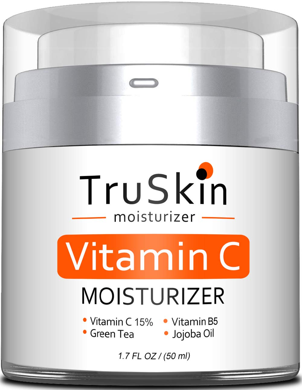 BEST Vitamin C Moisturizer Cream for Face, Neck & Décolleté for Anti-Aging, Wrinkles, Age Spots, Skin Tone, Firming, and Dark Circles. 1.7 Fl. Oz by TruSkin Naturals