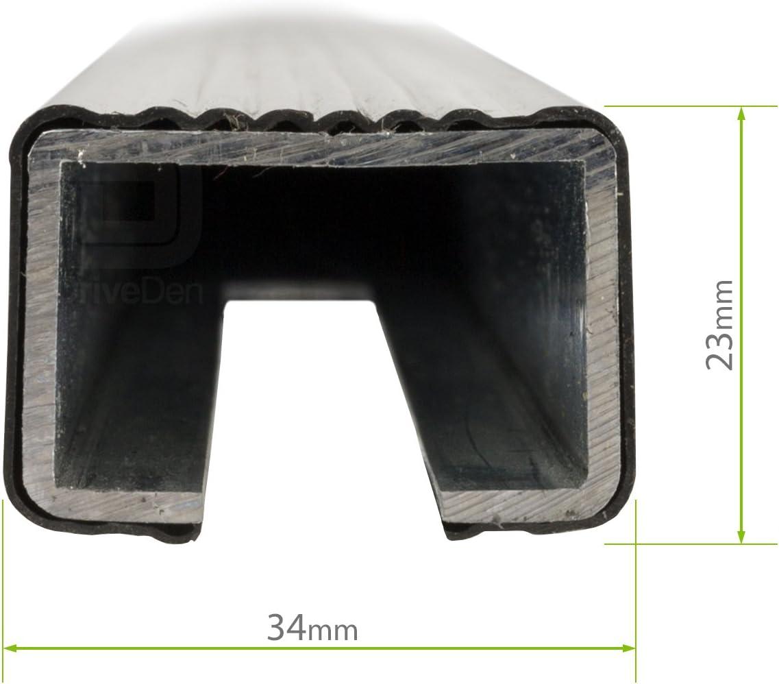 Modula MOCSRR0AC-0180b Steel Square Black Roof Bar Set Normal Roof