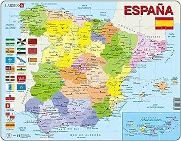 Larsen Puzzle K84–Spain-Political MAP: Amazon.es: Juguetes y ...