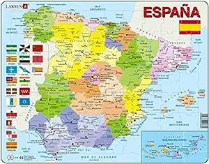 Larsen Puzzle K84–Spain-Political MAP: Amazon.es: Juguetes y juegos