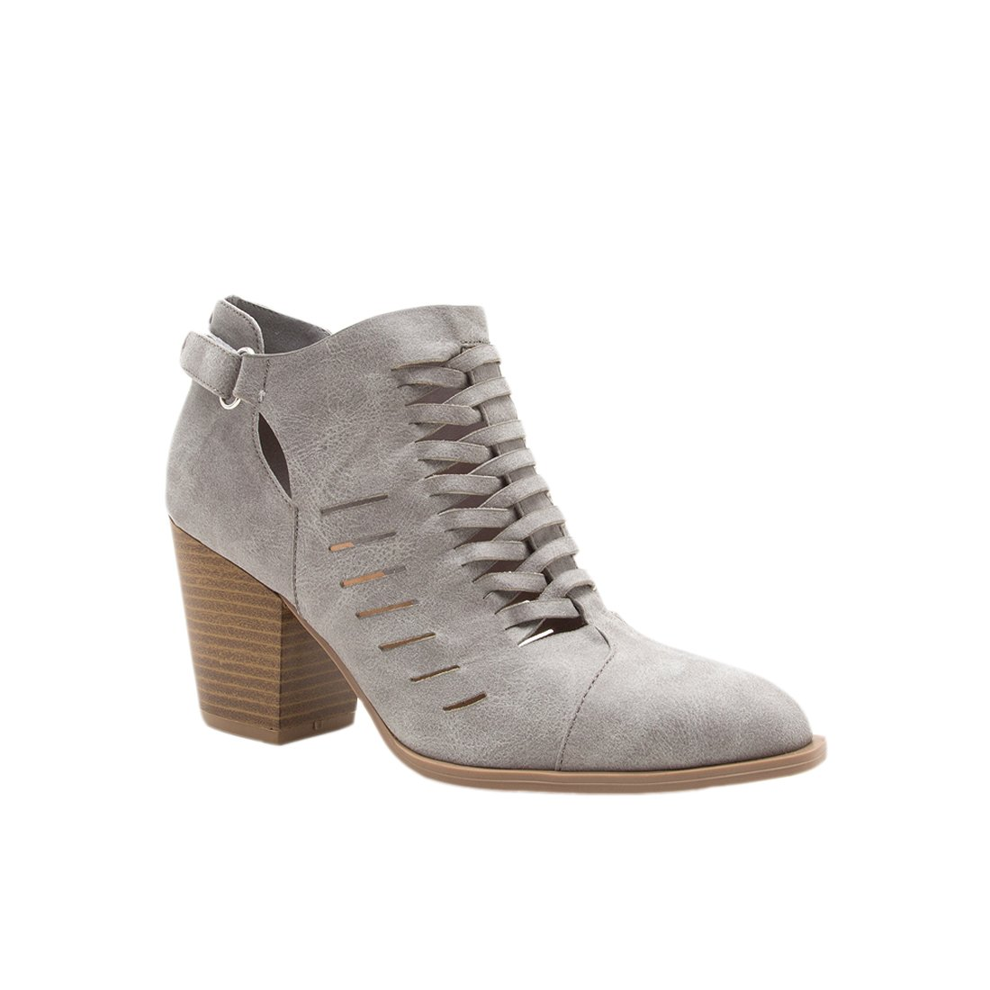 Qupid Women's Prenton-05X Ankle Boot B074NHK5D6 10 B(M) US Light Grey