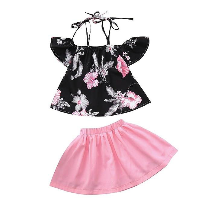 K-youth Vestidos Bebé Niñas Tutú Vestido de Princesa Niña Vestidos de  Fiestas para Niñas 2pcs Conjunto de Estampado de Flores de Tops + Tutú Falda  Disfraz ... 7297a115002