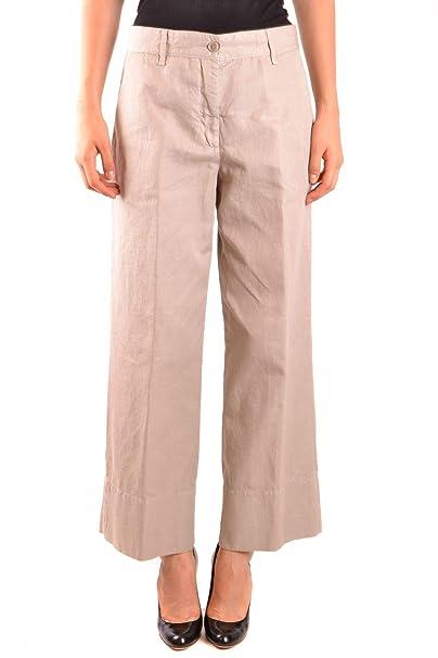 4de5fbc698 ALBERTO ASPESI Pantaloni Donna Mcbi35723 Lino Beige: Amazon.it ...