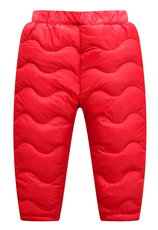Happy Cherry Baby Boys Girls Windproof Down Pants Lightweight Snow Pants