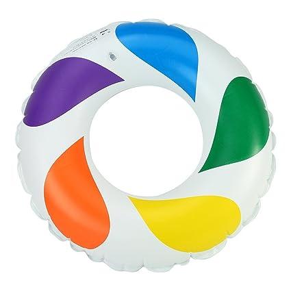 Sensexiao Asiento Flotante Multicolor de la Fila del Flotador del Anillo de la Natación del PVC