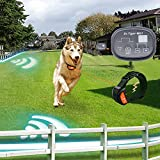 Dr.Tiger 2 Collars Electric Dog Fence, Invisible Pet Containment System with Rechargeable Collars -WBL1
