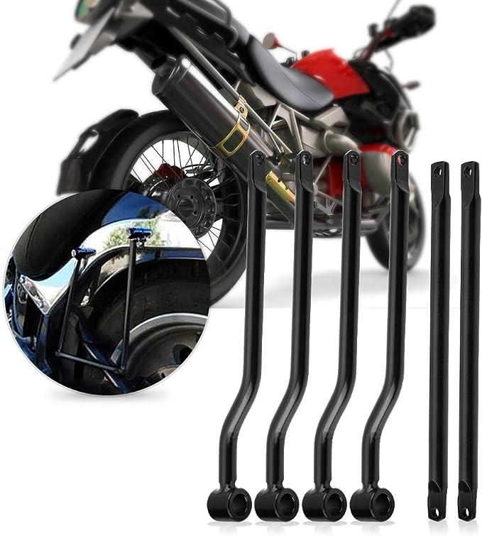 Elerose Motorrad Hinter Seite Tasche Gepäcktaschen Satteltasche Stützstangen Halterung Für Davidson Auto