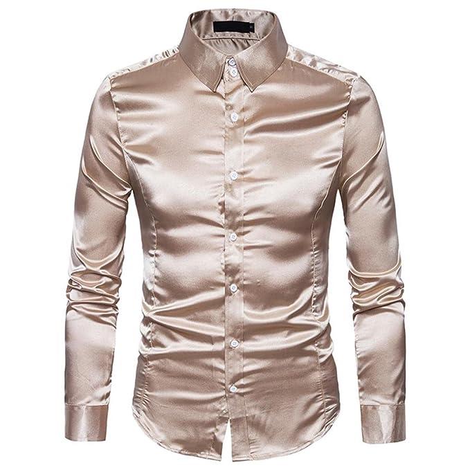 Camisa para hombre de color metalico para fiestas.