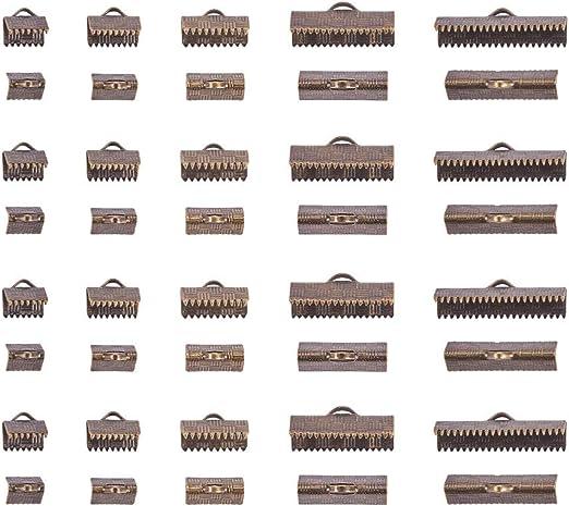 30 pcs Antique Bronze Ribbon Crimp End Cap 25mm ribbon crimps