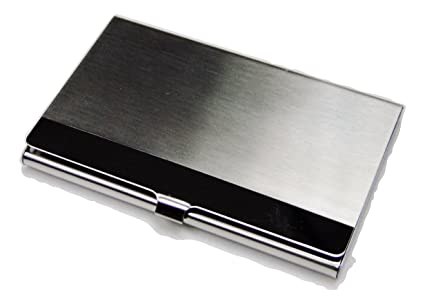 Tapp Collections Geprägt Business Card Case Silber Ton