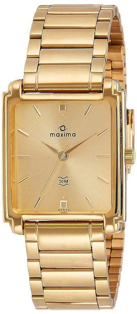 Maxima Analog Gold Dial Men's Watch - 40070CMGY