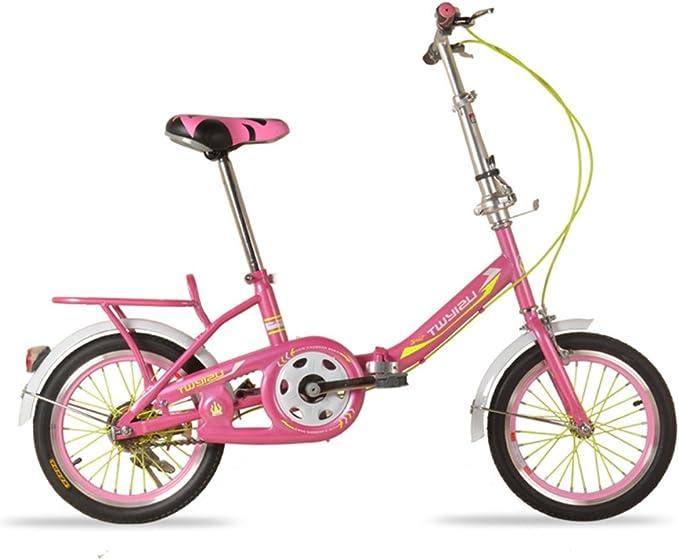 MHGAO Niños Plegable Bicicleta portátil niña/Boy Bicicleta 16 ...