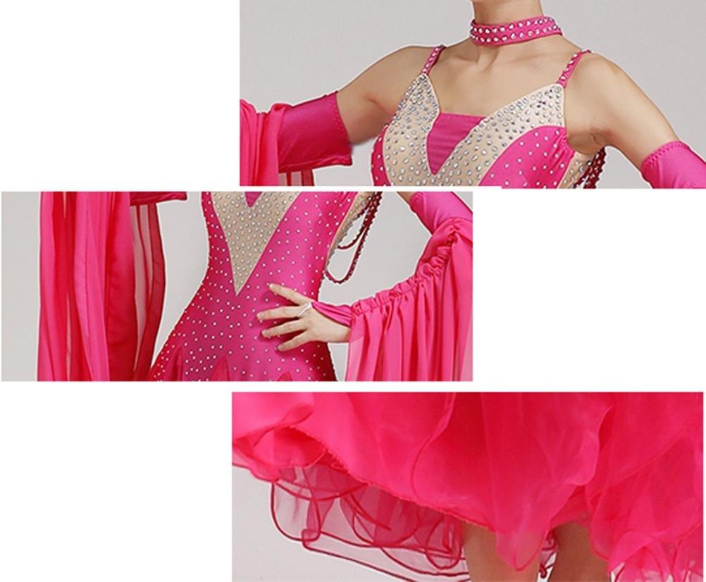 MoLiYanZi Standardtanz-Outfit Für Frauen Schwimmende Hülse Lange Mesh Walzer Walzer Walzer Modern Wettbewerb Tanzkleid B07BJ7919Y Bekleidung Online-Verkauf 1254f3