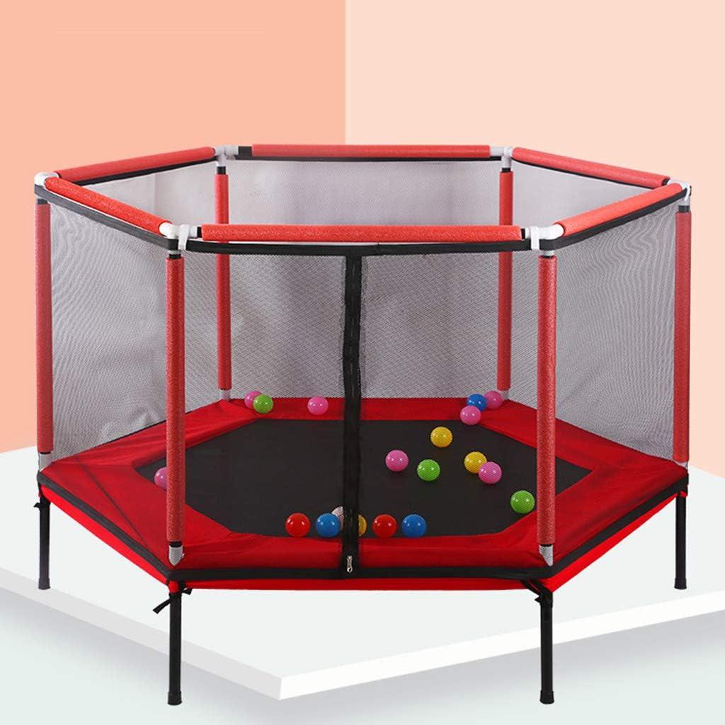 NA - Cama elástica para niños con funda acolchada y salto, con red de protección de seguridad, carga máxima de 200 kg, juego interactivo para padres e hijos para exteriores