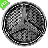 Automotive : Patricon Xenon White LED Illuminated Logo Car Front Grilled Star Emblem for Mercedes Benz 2013-2018 A/B/C/CLS/E/GLK/GL/R Series Center Front Badge Lamp Light (Matte Black)
