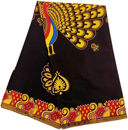Tela de algodón con estampado africano real para vestidos de ...
