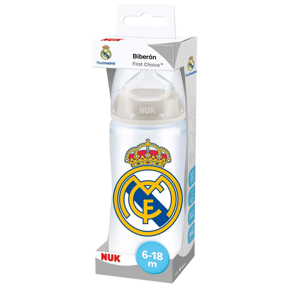NUK First Choice + Biberón del Real Madrid de Silicona ...