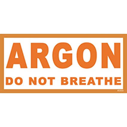 Argon Tank Sticker
