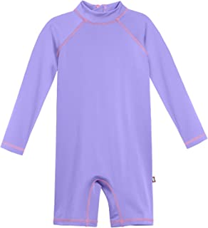product image for City Threads Girls' Sun Suit SPF50+ Rash Guard Romper One Piece Swim Tee Sun Protection