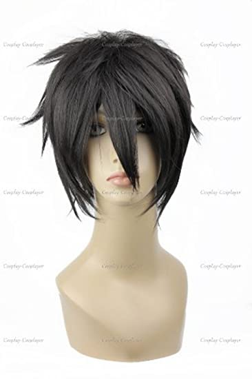 CosplayerWorld Cosplay Wigs Sword Art Online Kirito Wig For Convention Party Show Black32cm 145g WIG