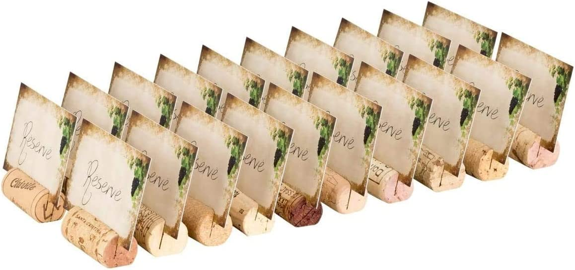 Table Tent Reserved Caf/é 20 Used Natural Corks 40 Cards Ideal for Restaurant Bar Catering Industry for Marking Reserved Tables