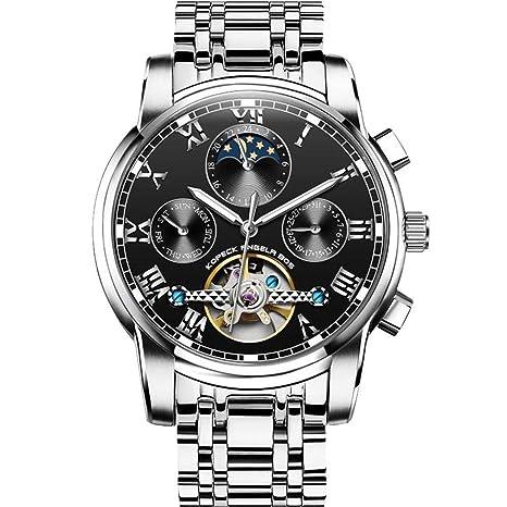 North King Mecánico Relojes Fecha Display Luminoso Reloj mecánico Impermeable Multi función Reloj de Pulsera para