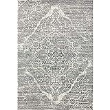 4620 Distressed Silver 5'2x7'2 Area Rug Carpet