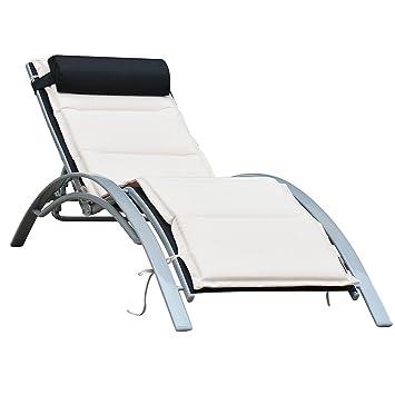 Amazon.de: Outsunny® Sonnenliege Gartenliege Gartenstuhl Relaxsessel ...
