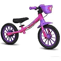 Bicicleta Balance Bike Feminina Aro 12 Nathor Multicor