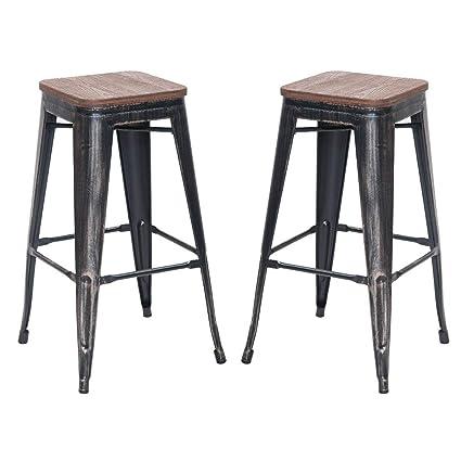 Awe Inspiring Amazon Com Bar Stools Set Of 2 No Assemble Needed Julyfox Creativecarmelina Interior Chair Design Creativecarmelinacom