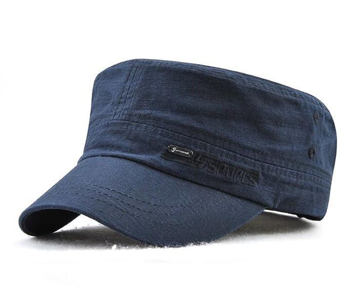 béisbol Gorra Militares Hombre Senderismo Running Ajustable Sol Sombreros  (Azul) fac3cd3f1b9