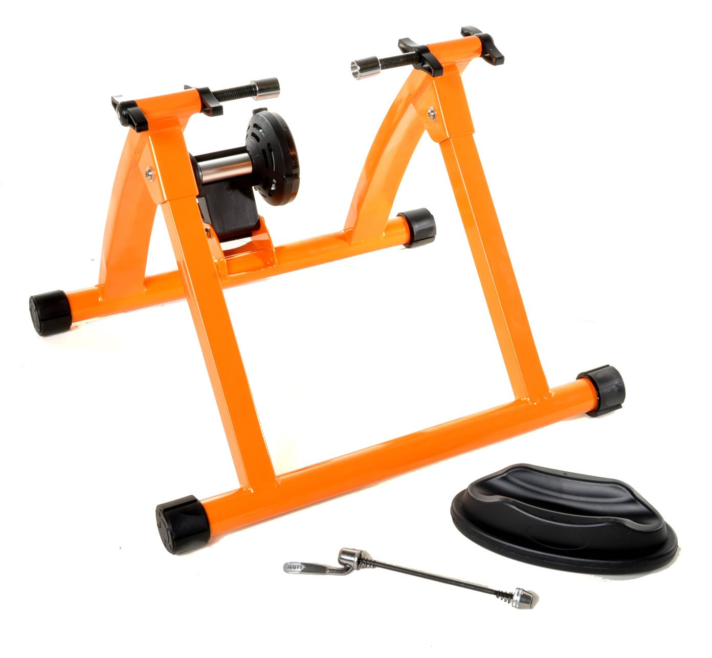 Indoor Bike Trainer Exercise Stand Orange Bicycle