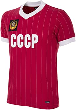 Copa CCCP 1982 World Cup Retro Football Shirt - Camiseta Retro de fútbol con Cuello en V. Hombre: Amazon.es: Deportes y aire libre
