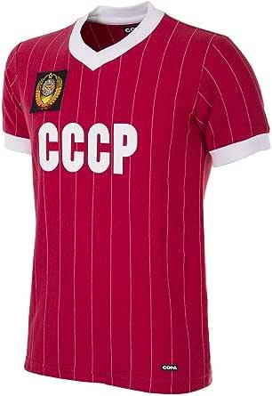 Copa CCCP 1982 World Cup Retro Football Shirt Camiseta Retro de fútbol con Cuello en V. Hombre