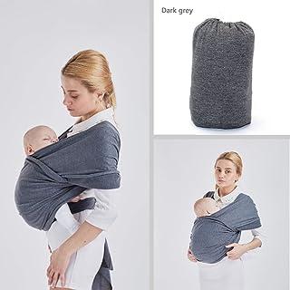 WKD Online - Porte-bébé en coton tissé doux extensible pour tenir le bébé sur la poitrine - Taille adaptée pour les femmes et les grands hommes