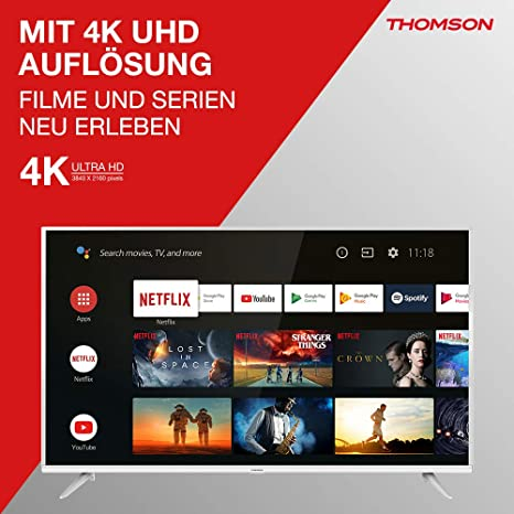 Televisore LCD Thomson TV LED Serie UE64 4K UHD Android TV: Amazon ...