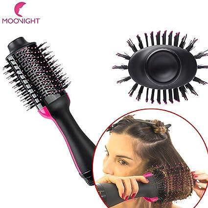 Cepillo de aire caliente de un paso para el pelo estilizador y secador y voluminizador, 2 en 1 alisador ...