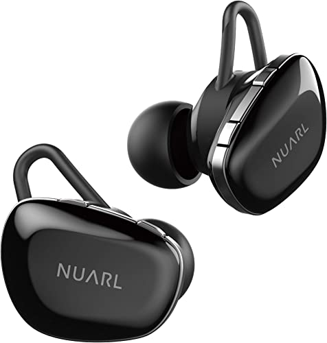 NUARL N6 TWS Wireless Stereo Earphones Earbuds Bluetooth5 11hr Playback aptX with HDSS IPX4 N6-GB Gross Black